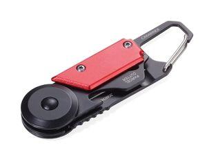 TROIKA KTL26-RD, Schlüsselkarabinerhaken, Schwarz, Rot, Aluminium, Edelstahl, 50 g, Box, 1 Stück(e)