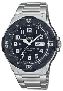 Casio Armbanduhr Edelstahlband analog Uhr MRW-200HD-1BVEF