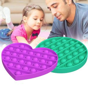 2 Stück POP IT Logic Game Kinderspielzeug lila + grünes Spiel Disc Spielzeug