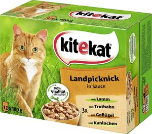 Kitekat Landpicknick in Sauce (12 x 100 g)