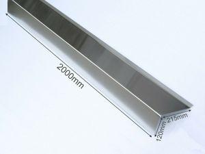 Ortgangwinkel Dachabschluss-Blech Ortgangblech Dachblech Alu blank lackierbar 120 x 215mm
