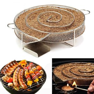 Kaltraucherzeuger Kaltrauchgenerator Edelstahl für Grill und Smoker Räucherspirale BBQ