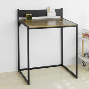 SoBuy FWT66-SCH Schreibtisch Computertisch Arbeitstisch Bürotisch Tisch Schwarz BHT ca.: 70x90x50cm