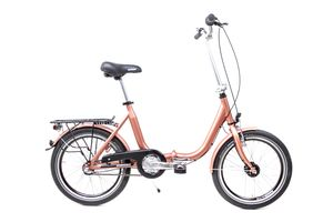 20 Zoll Alu Klapp Fahrrad Faltrad Folding Bike Shimano 3 Gang Nabendynamo kupfer