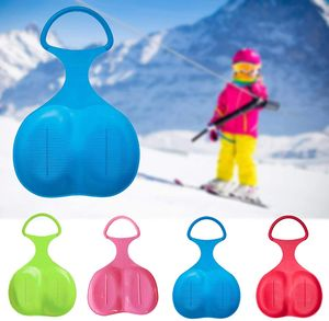 NightyNine 4 Stück Schneeschlitten Kinder Schneerutscher Schnee Flexibel Kunststoff Rutscher Schlitten für Outdoor Ski Wintersport, Gras gleiten, Sandboarden