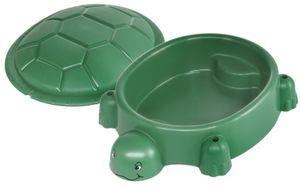 Paradiso Toys sandkasten mit Deckel Schildkröte 115 x 83 cm grün