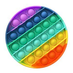 Push Pop Bubble Sensory Fidget Spielzeug Autism Stress Relief Kinder Game Mehrfarbig (Runden)