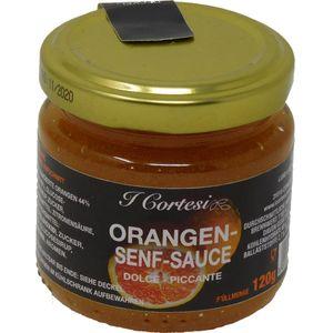 Cortesi Orangensenfsauce aus leckeren Orangen Dolce Piccante 120g