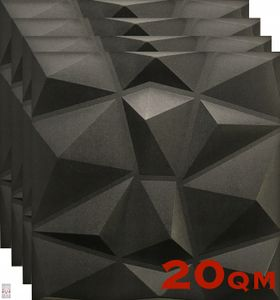 (!!! Sparpaket !!!) 3D Wandpaneele Wandverkleidung Deckenpaneele Platten Paneele Wandtattoos Polystyrol XPS (20 qm <=> 80 Stück)