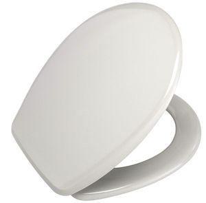 WENKO 135137100 WC-Sitz Roma - Fix-Clip Hygiene Kunststoffbefestigung, Duroplast, Manhattan grau