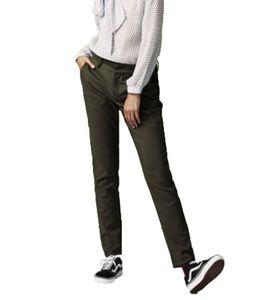 NÜMPH Babasan Stoff-Hose elegante Damen Business-Hose mit Gürtelschlaufen Khaki, Größe:38