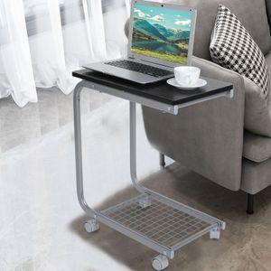 Laptoptisch Notebook Beistelltisch Pflegetisch auf Rollen Schreibtisch 50 x 30 x 60 cm