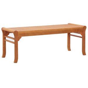 2-Sitzer-Gartenbank 120 cm Eukalyptus Massivholz   Gartensofa Garten Möbel Gartenlounge Balkonmöbel