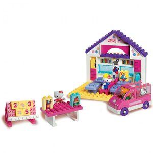 PlayBIG Bloxx 800057026 Hello Kitty Schule Bausteine School Lehrer Schulbank Schulbus