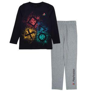 Playstation - Schlafanzug für Jungen PG1072 (140) (Schwarz/Grau meliert)