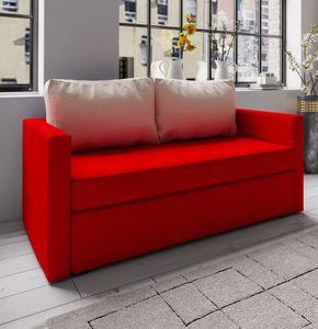"""VCM 2er Schlafsofa Sofabett Couch Sofa mit Schlaffunktion """"Ensal"""" Rot"""