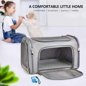 Atmungsaktiv Hundetasche Auto Hundebox Transportbox Tragetasche Autositz Katze Safety Design