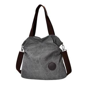 1 x Canvas Handtasche  Farbe Grau