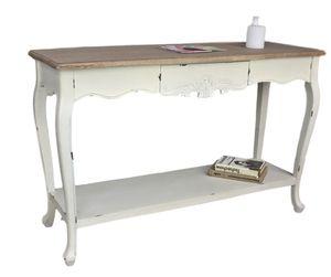 Konsolentisch Sekretär weiß braun antik Landhaus Holz Tisch Anrichte shabby chic