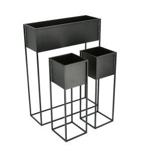 Pflanzgefäß auf Ständer - 3er Set - 60x80cm (1x), 60x20cm (2x)