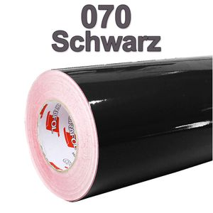 (4,59€/m²) Oracal® Möbelfolie 070 Schwarz Glanz 63 cm Breite Laufmeterware selbstklebende Folie Plotterfolie Klebe Folie Oracal 621 glänzende Küchenfolie