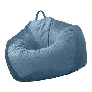 XXL Sitzsackhülle ohne Füllung Riesensitzsack Sitzsack Bezug Hülle Wasserdichte Cover Farbe Blue_3