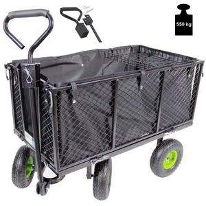 TrutzHolm® Gitter Bollerwagen 550 kg Handwagen Gartenwagen Transportwagen