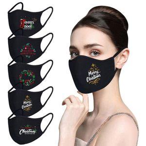 5 stk Weihnachten Schutzmaske Atmungsaktiv Baumwolle Mundschutz Weihnachtsmann Gesichtsmaske