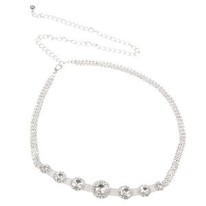 1 Stück Frauen Taille Kette Farbe Silbernes Design 1