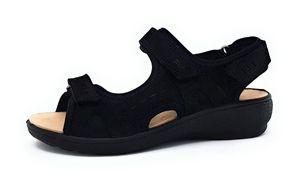 Legero Gorla Damen Sandale in Schwarz, Größe 41
