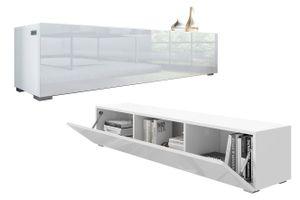 PLATAN ROOM TV Lowboard Hängeboard Board Schrank für Wohnzimmer Wandschrank mit Hochglanz 160 cm Länge