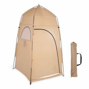 Meco Pop up Duschzelt Toilettenzelt Umkleidezelt Outdoor Camping Wasserfest Beistellzelt Gelb