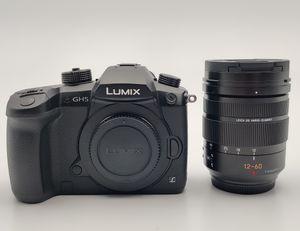 Panasonic Lumix DC-GH5 schwarz mit Objektiv DG Vario Elmarit 12-60mm 2.8-4.0 ASPH