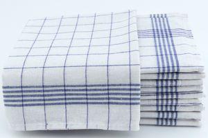 10 Geschirrtücher 50x70 cm blau Küchentücher Geschirrtuch Set 100% Baumwolle