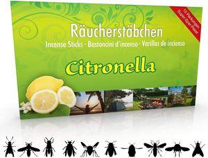 Luxflair 10 Packungen Citronella Räucherstäbchen, Brenndauer ca. 60h (gesamt). XL Vorrat als Alternative zur Citronella Kerze oder Teelichter für draußen/im Garten