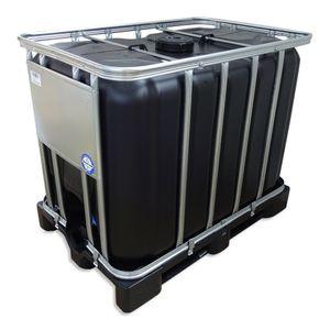 600 L Liter IBC Container Wassertank Frisch-Brauchwassertank schwarz inkl. Ausgießer PE-Palette