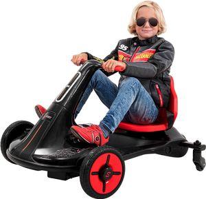 Kinder-Drift-Scooter Axxis, spezielle Drift-Rollen, bis zu 20 km/h, 1.100 Watt, LED-Beleuchtung (Weiß)