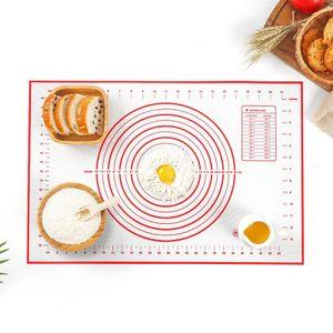 Silikonmatte Backmatte Silikon Teigmatte Wiederverwendbar Antihaft rutschfest mit Messung, 60 x 40 cm