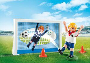 PLAYMOBIL Sports & Action Soccer Shootout Carry Case, Junge, 4 Jahr(e), Mehrfarben, Kunststoff