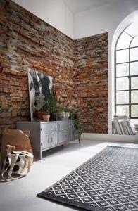 "Komar Vlies Fototapete ""Bricklane"", braun/rot/beige, 368 x 248 cm"