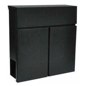 Wandbriefkasten Briefkasten Cancello anthrazit schwarz