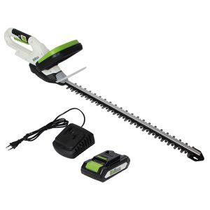Akku Heckenschere 20V/2.0Ah mit Akku und Schnellladegerät Schnittlänge 520 mm
