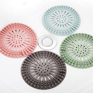 4 Stück Haarsieb Silikon-Haarstopper-Duschabflussabdeckungen,Küchen SpüLenfilter,Abflussschutz aus Silikon mit Saugnapf