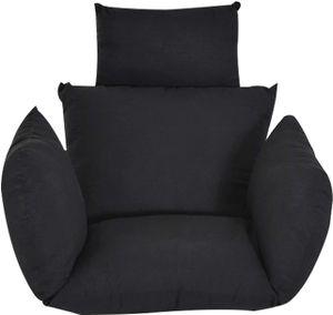 Hängesessel Schwarz Kissen Gestell Hängestuhl Kissen Stuhlkissen Lounge Hängekorb Schaukel Sessel (Enthält Keine Hängenden Stühle)