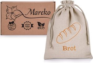 CYE Brotbeutel Brotsack aus 100% Natur Leinen Brot Tasche Aufbewahrung von n Beutel zur Brotaufbewahrung mit Kordelzug Wiederverwendbar 30x40 cm