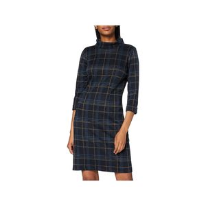 TOM TAILOR Damen Kleid dress easy shape navy blue camel chec 36