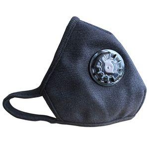 ZQYRLAR Atmungsaktive Atemschutzmaske gegen Umweltverschmutzung - wiederverwendbar waschbar - bequeme Baumwolle einstellbar (schwarz / blaue Blume)