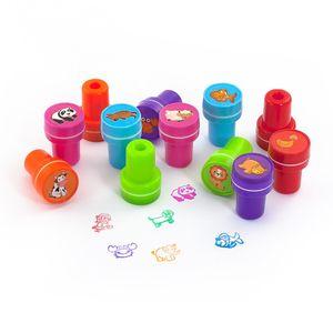 Oblique Unique 12 Kinder Stempel Tierstempel Set Selbstfärbend kreativ