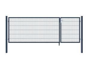 Doppelflügel Gartentor - Variantenauswahl, Farbe:Anthrazit, Höhe:120 x 350 cm