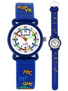 Pacific Time Kinder Armbanduhr Mädchen Jungen Lernuhr ABC Schule 20651